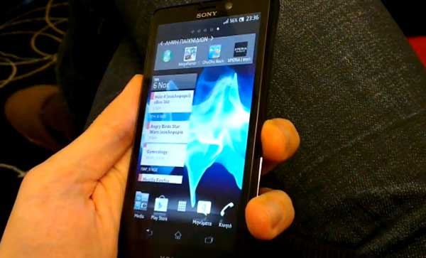Sony Xperia T hands on video