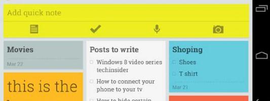 Keep notes with Google Keep app