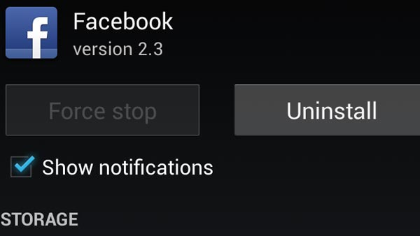 Turn off notifications of specific apps