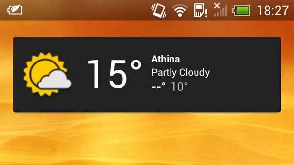 Edit your weather widget