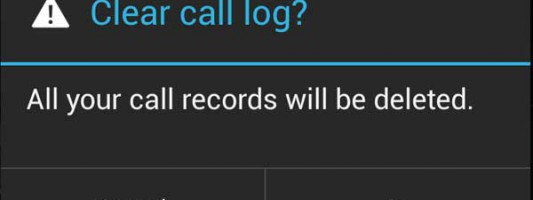 Delete recent calls list and all the SMS