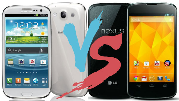 Samsung Galaxy S3 VS Google Nexus 4: Which one to buy