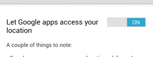 Troubleshooting Please enable Google apps locations access problem