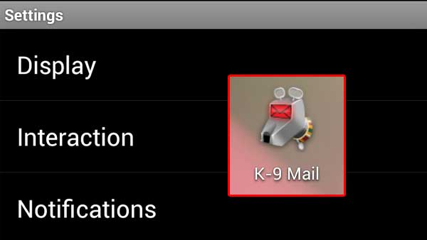 Push Gmail or other emails easily with K-9 Mail