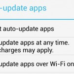 Enable or disable auto update function on apps from Google Play