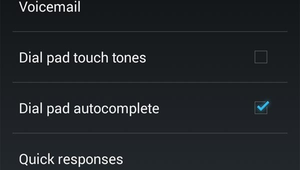 Disable dial pad touch tones