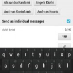 Send SMS to multiple contacts or a whole group