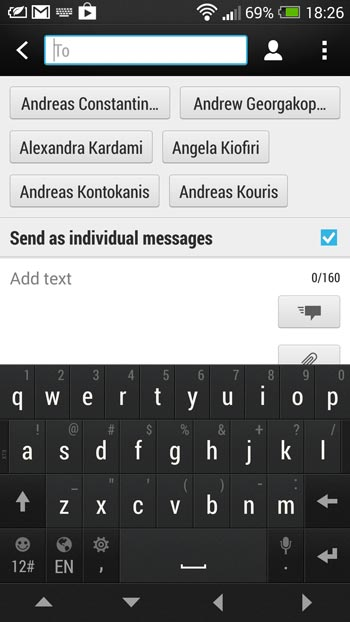 Send SMS to multiple contacts or a whole group | Android VIP
