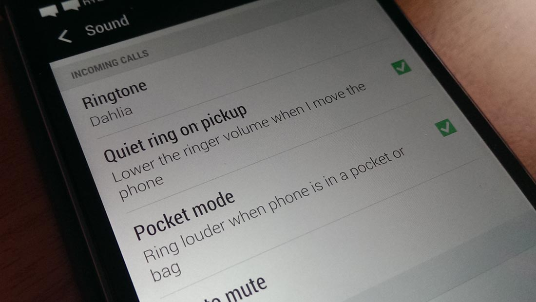Smart answer and reject calls settings with HTC One M8