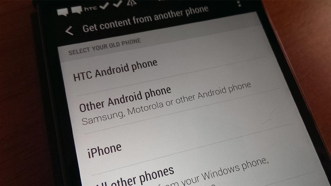 Transfer your content from one Android to a new HTC Android