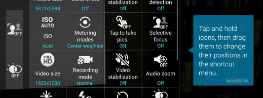 26 options explained for your camera App