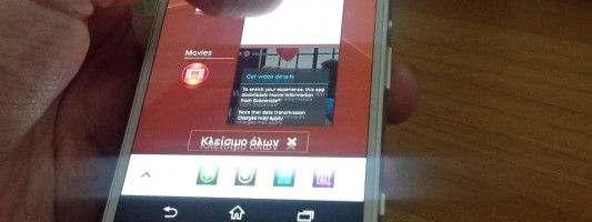 Navigate between apps and multitasking on Sony Xperia Z3