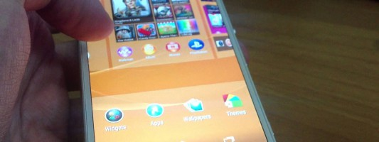 Edit the homescreen of Sony Xperia Z3 (home panes)