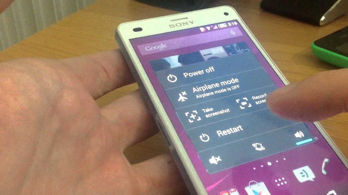 Take screenshot with Sony Xperia Z3