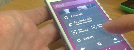Take screenshot with Sony Xperia Z3